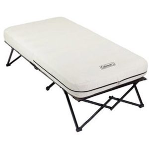 Coleman Airbed Cot with Side Table double camping cot