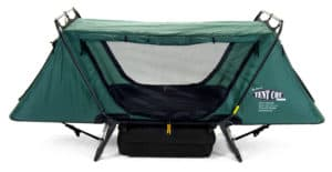 Kamp-Rite Oversize Tent Cot Disc-O-Bed Large with Organizers double camping cot