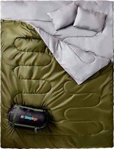 Sleepingo Double Sleeping Bag for Backpacking-best double sleeping bag