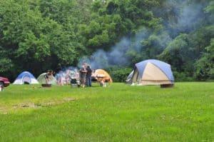 John Bryan State Park Camping in Ohio
