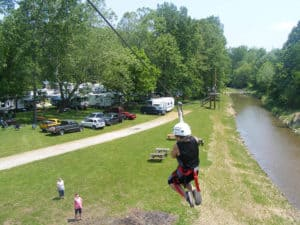 Lazy River At Granville Camping in Ohio