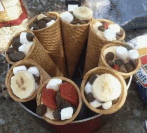 Best Easy Campfire Desserts Recipes - campfire cones