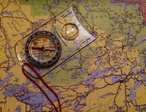 Navigation Map Compass -camping check list