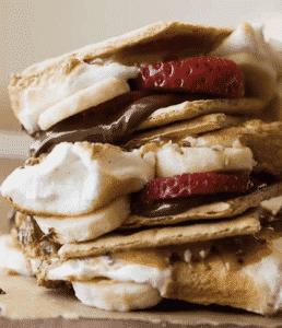 Best Easy Campfire Desserts Recipes - strawberry smores