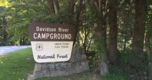 Camping in NC - Davidson River Campground