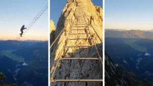 Daredevils Climb Scariest Stairway To Heaven Mountain Ladder In The World