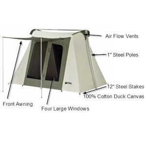 Kodiak Canvas Flex-Bow Canvas 6 Person Tent Review with Labelled Parts