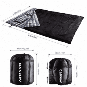 The Double Sleeping Bag by Canway Review2