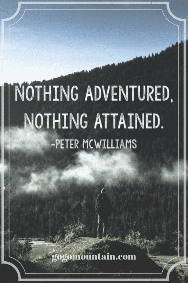 nothing adventured nothing attained