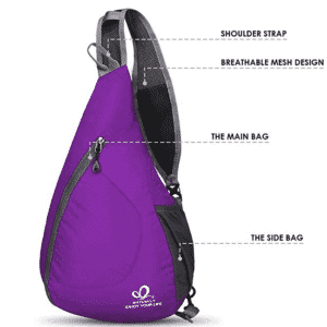 Packable One Shoulder Backpack by Waterfly