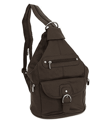 Womens one shoulder Sling Backpack by Roma Leathers
