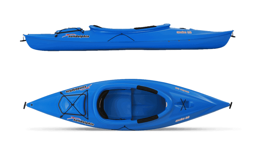 Sun Dolphin Aruba 10 Kayak Review - side and top
