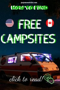 Camping For FREE In The US & Canada Pinterest Pin