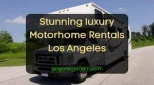 Stunning luxury Motorhome Rentals Los Angeles
