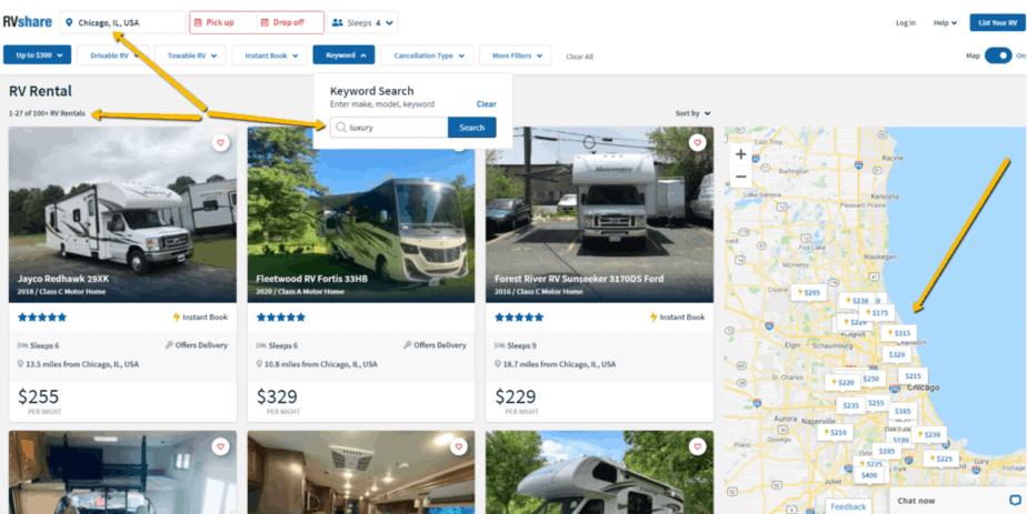 luxury rv rentals chicago