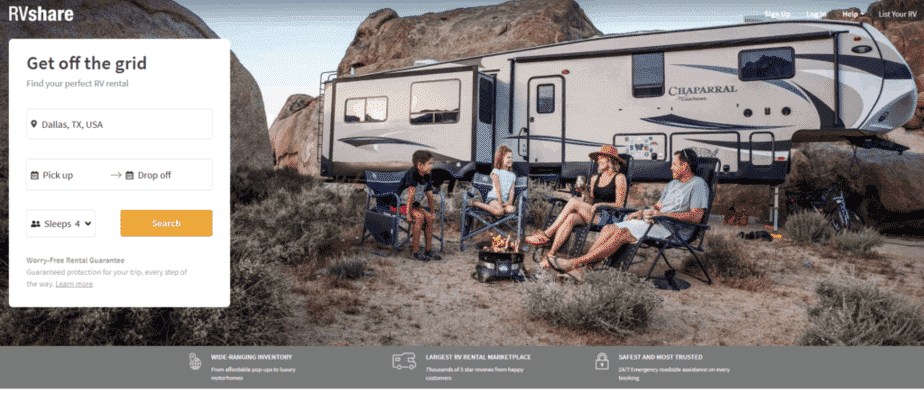 where to rent an rv in dallas texas