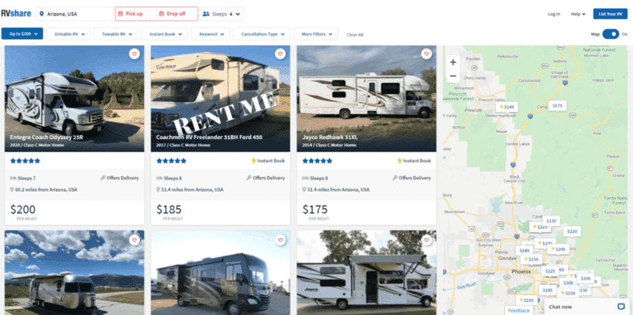 Luxury RV Rentals In Arizona