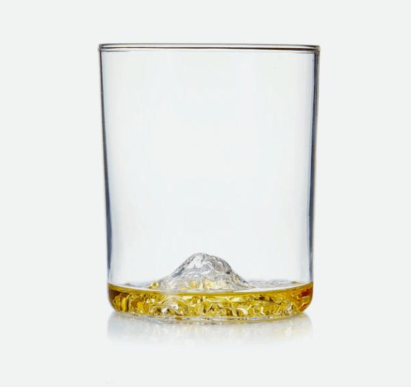 America's greatest mountain peaks – Half Dome, Denali, Mt. Rainer, Mt. Whitney whiskey glasses