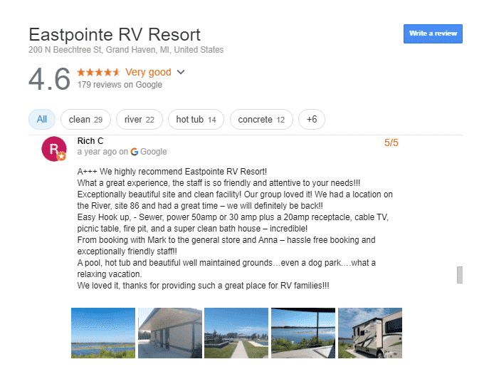 Eastpointe RV Resort