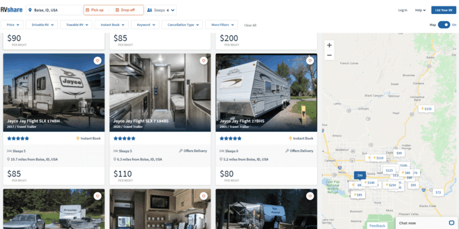 Luxury RV Rentals Boise ID Area