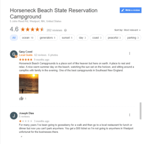 Horseneck Beach State Reservation Campground In Massachusetts