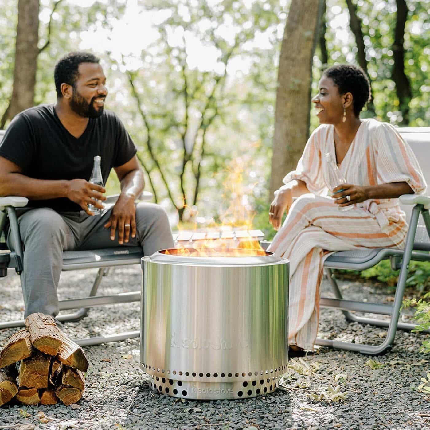 Solo Stove Bonfire Firepit Review - at campsite