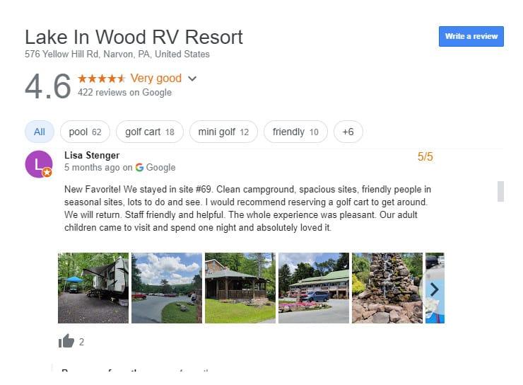 Luxury RV Campsites In Pennsylvania