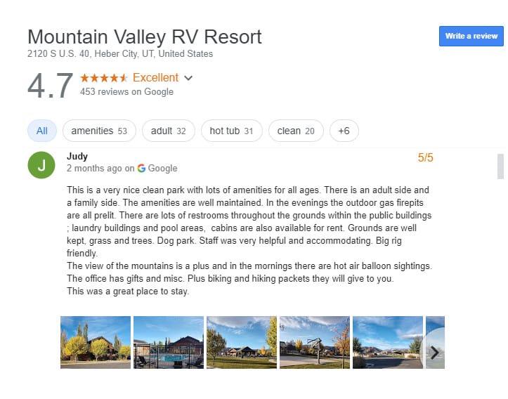 Luxury RV Campsite in Utah