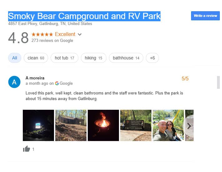 Luxury RV Campsite in Tennessee