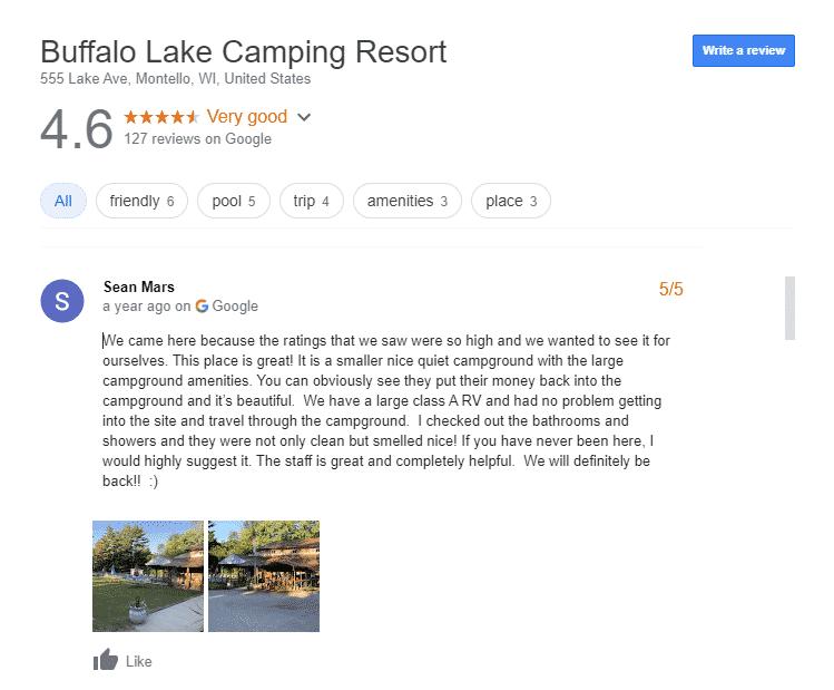 Luxury RV Campsite in Wisconsin