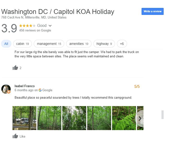 Luxury RV Campsites in Washington DC