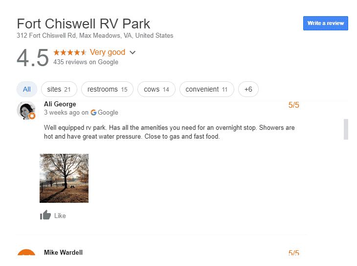 Luxury RV Campsites in Virginia