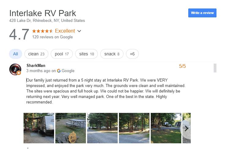 Luxury RV Campsites In New York
