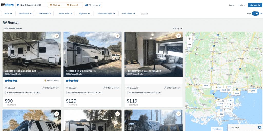 Luxury RV Rentals In New Orleans Louisiana
