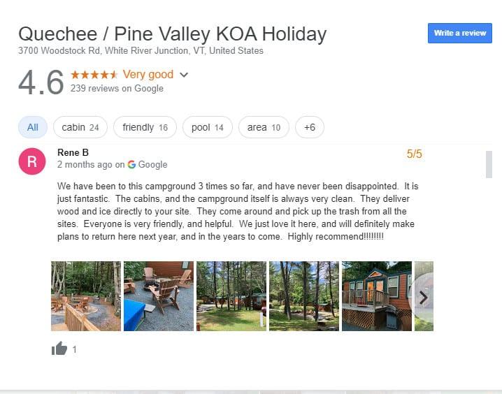 Luxury RV Campsite Vermont