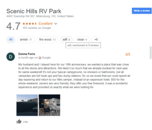 Luxury RV Campsites In Ohio