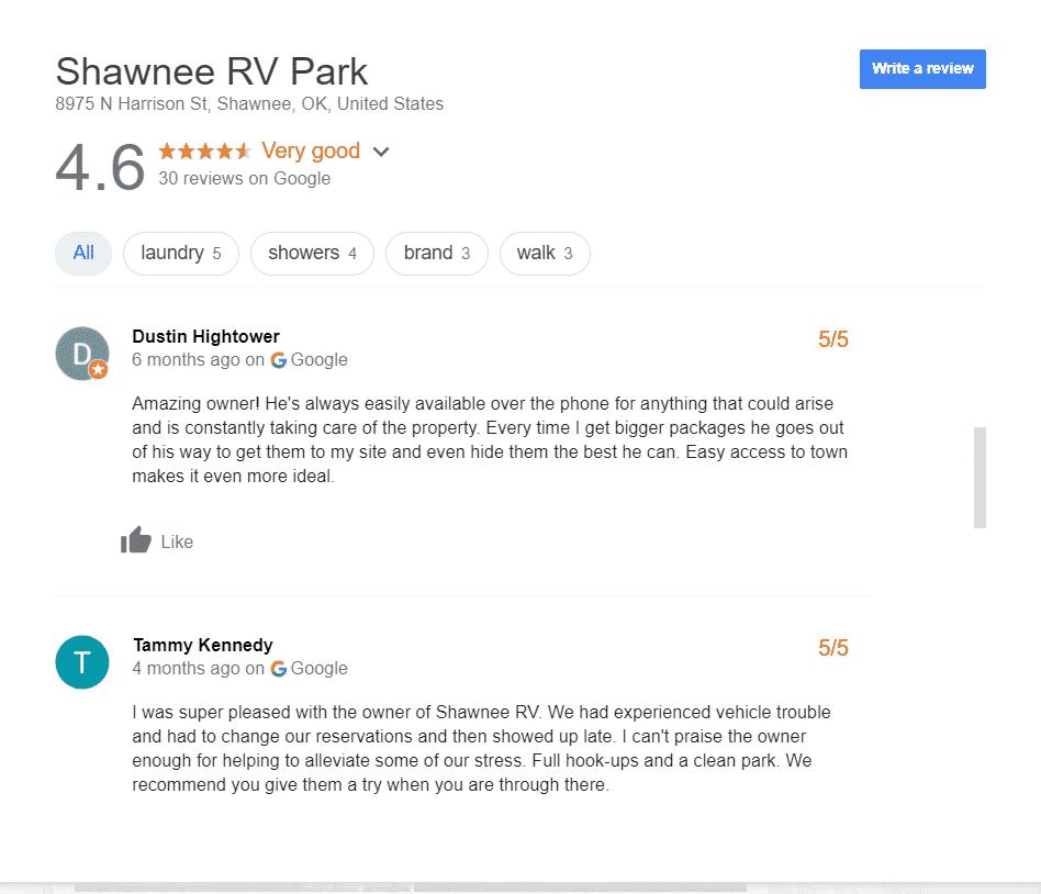 Luxury RV Campsites in Oklahoma