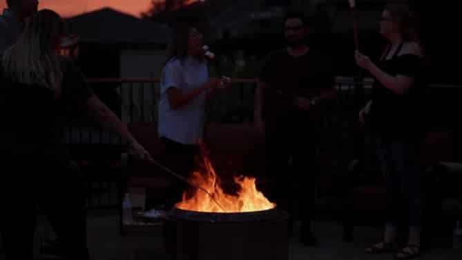 Solo Stove Bonfire in the Dark Camp Fire