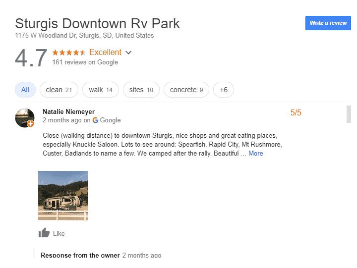 Luxury RV Campsite South Dakota