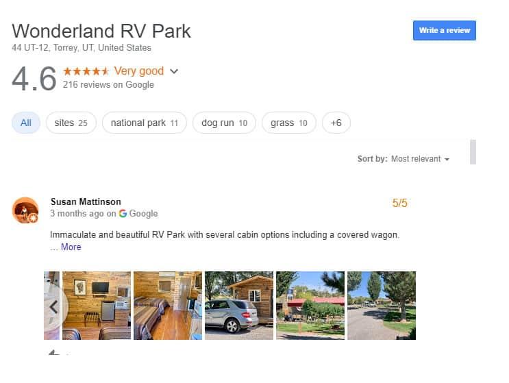 Luxury RV Campsites in Utah