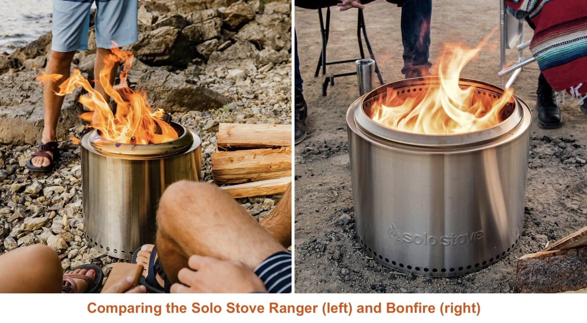 Solo Stove Ranger vs Bonfire use comparison